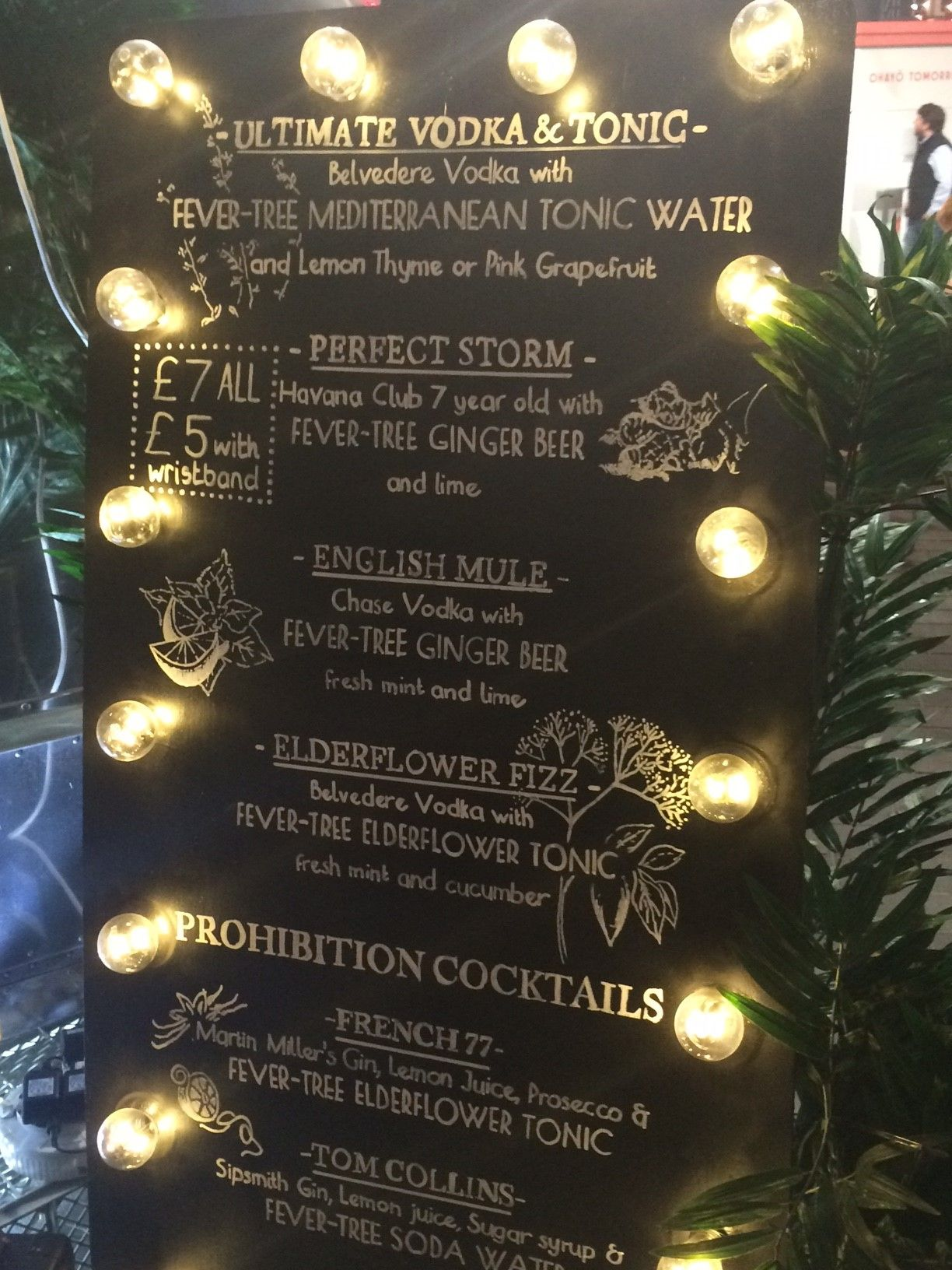 Fever tree menu