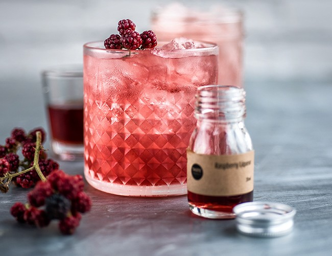 Classic Bramble gin cocktail